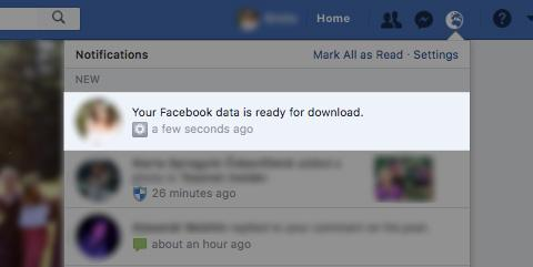 Download is ready - your Facebook data