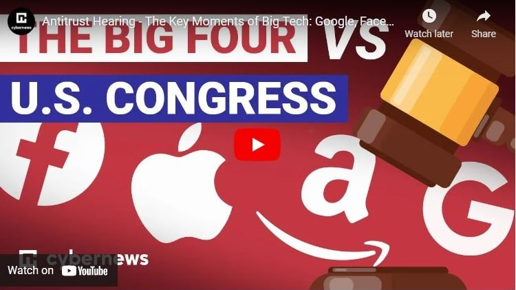 Antitrust Hearing - The Key Moments of Big Tech: Google, Facebook, Apple, Amazon Grilled By Congress video screenshot