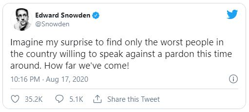 Edward Snowden tweet screenshot