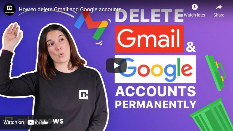 How to delete Gmail and Google accounts video screenshot