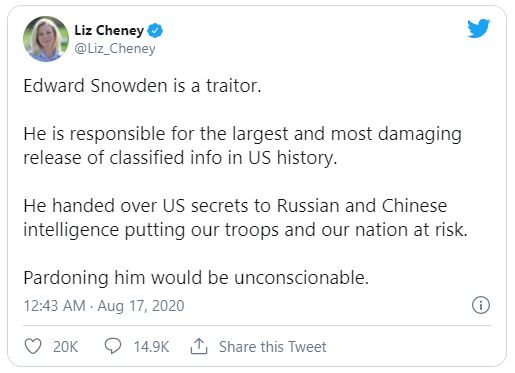 Liz Cheney tweet screenshot