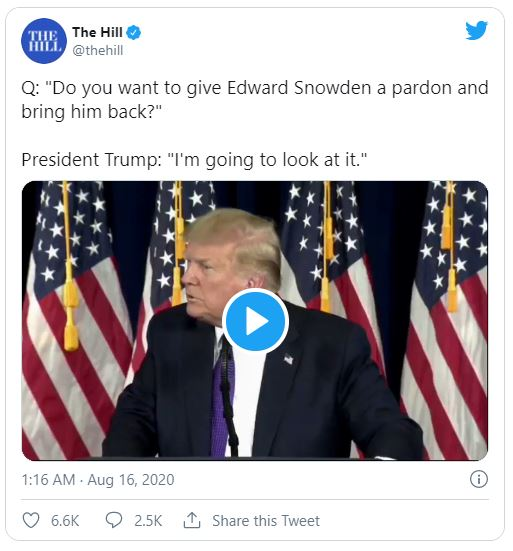 The Hill tweet screenshot