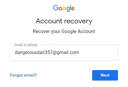 Recover Gmail Account - Step 1