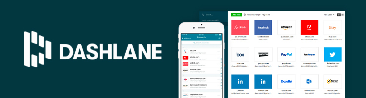 Dashlane interface in smart devices