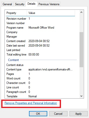 data inspector showing how you can remove data from files