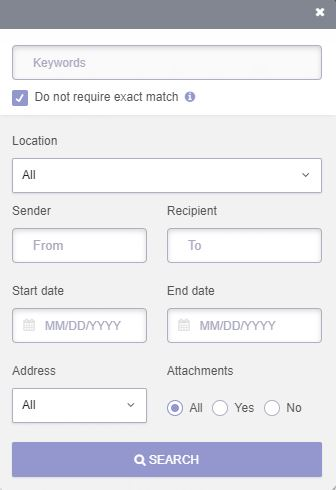 ProtonMail search function