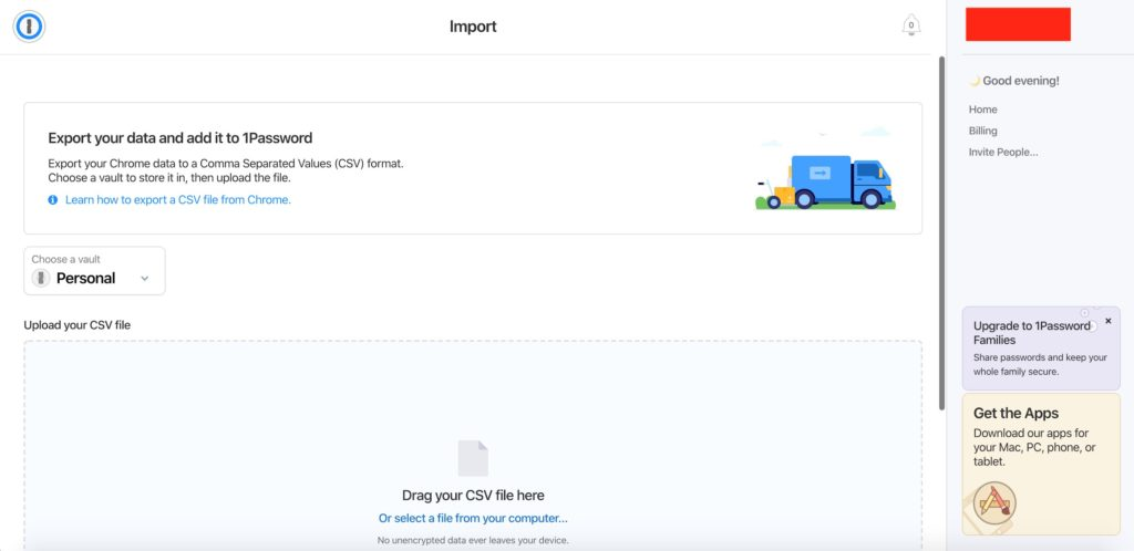 Instructions how to import a CSV file