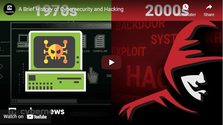 A Brief History of Cybersecurity and Hacking video screenshot