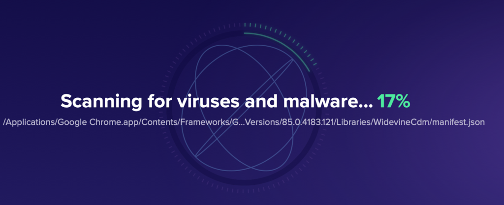 Avast Security scanning for viruses and malware