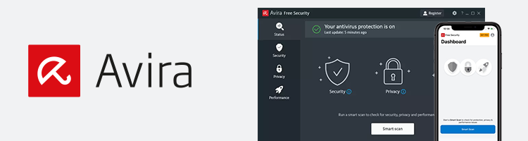 Avira user interface