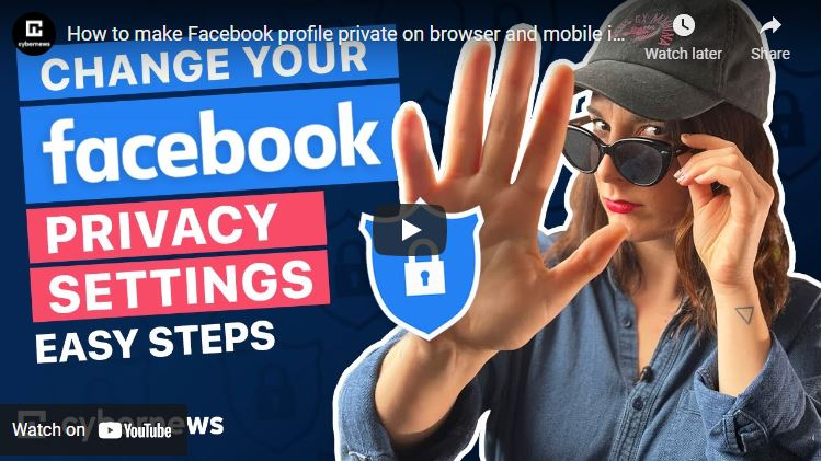 How to make Facebook profile private on browser and mobile in 2021 video screenshot