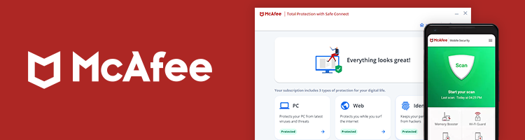 McAfee user interface