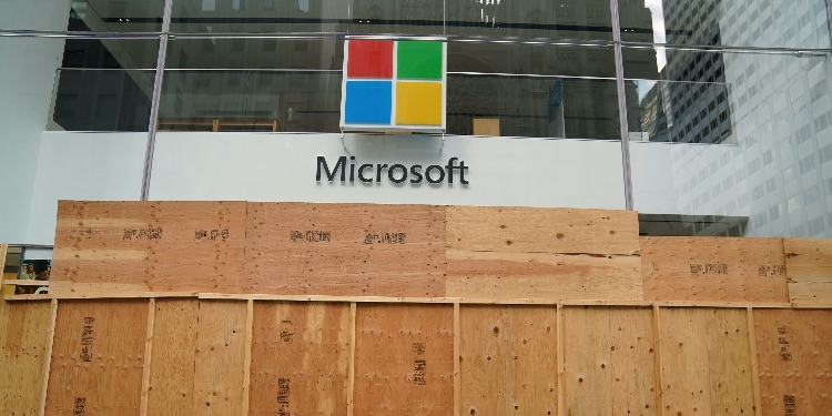 The Microsoft store is pictured in the Manhattan borough of New York City, New York, U.S., June 26, 2020.
