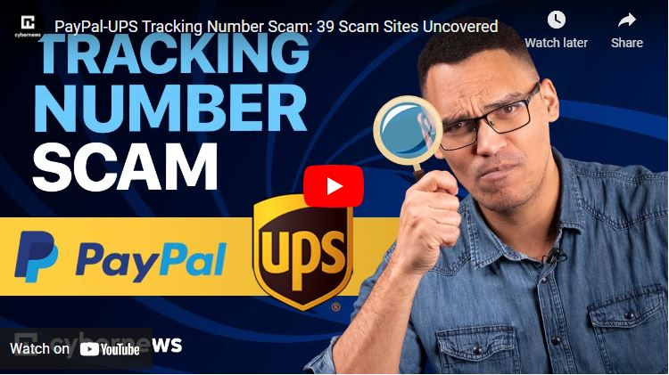 PayPal-UPS Tracking Number Scam: 39 Scam Sites Uncovered video screenshot