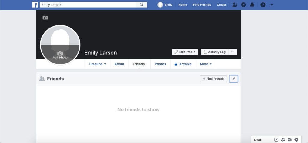 facebook friends tab screenshot
