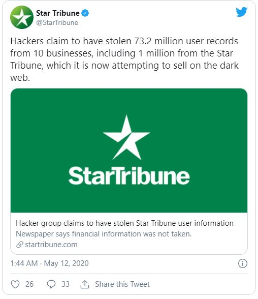 Star Tribune tweet screenshot