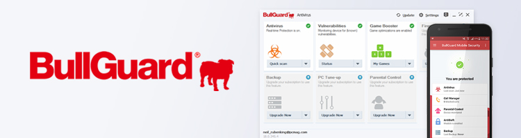BullGuard user interface