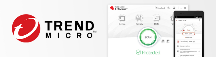 Trend Micro antivirus user interface