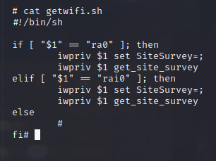 The script that lists all neighboring wifi networks