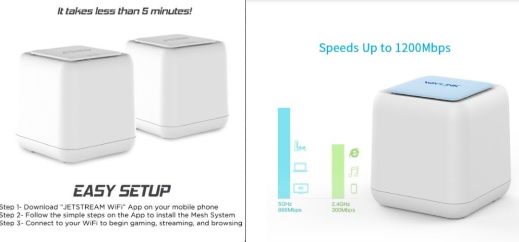 Comparison of Jetstream and Wavlink mesh routers