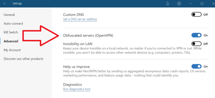 NordVPN Obfuscated servers