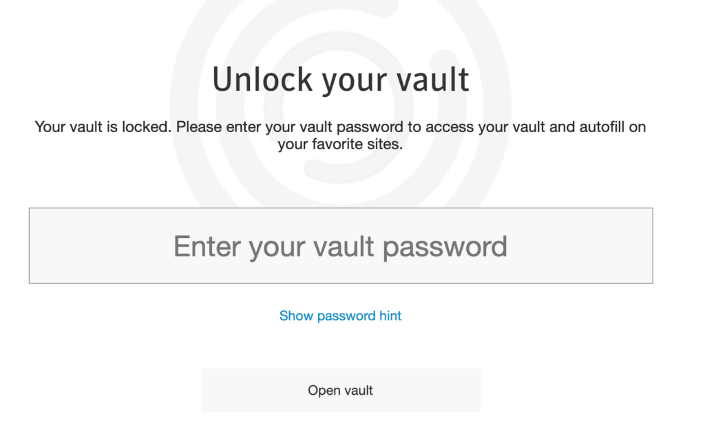 Interface of Norton 360 password manager