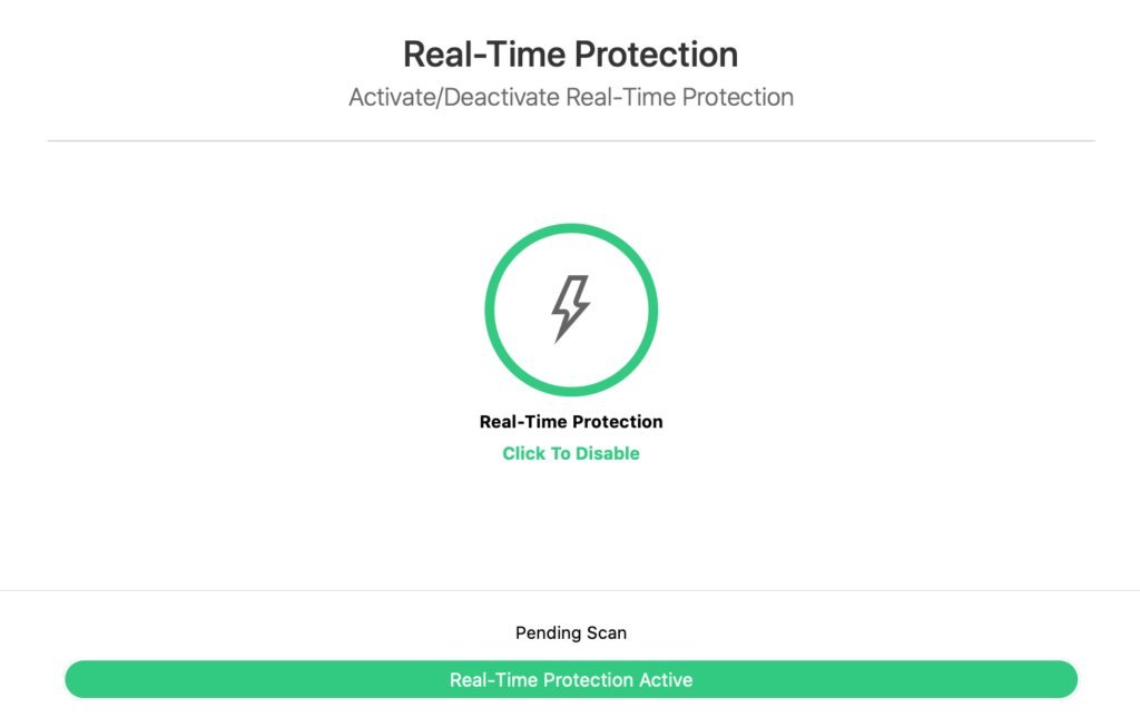 TotalAV real time protection