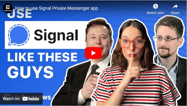 How to use Signal Private Messenger app video screenshot