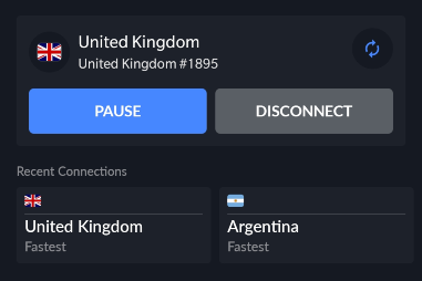 NordVPN connection pause