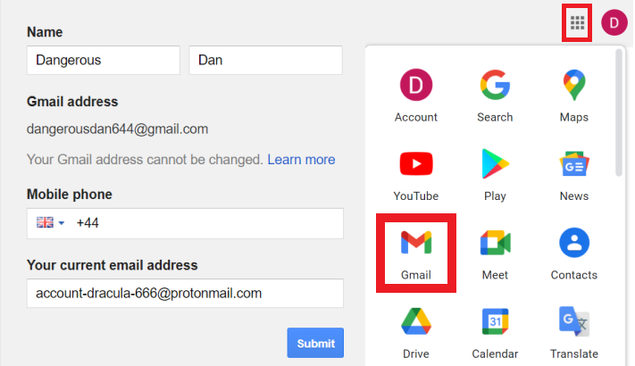 Recover Gmail Account - Step 4