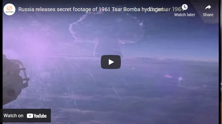 Russia releases secret footage of 1961 Tsar Bomba hydrogen blast video screenshot