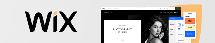 Wix website builder features for photography sites