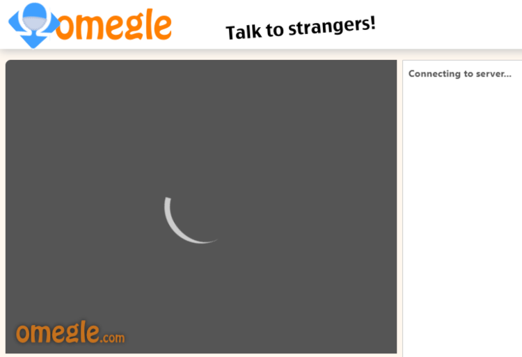 omegle connection screen