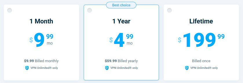 VPN Unlimited prices
