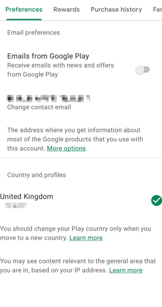 change country on google play store