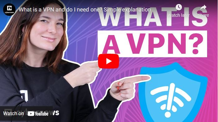 What is a VPN video screenshot