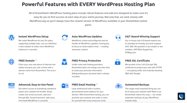 WordPress Hosting Plan feature