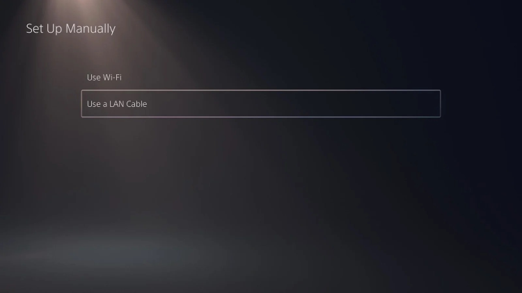 Set up internet connection settings on PlayStation