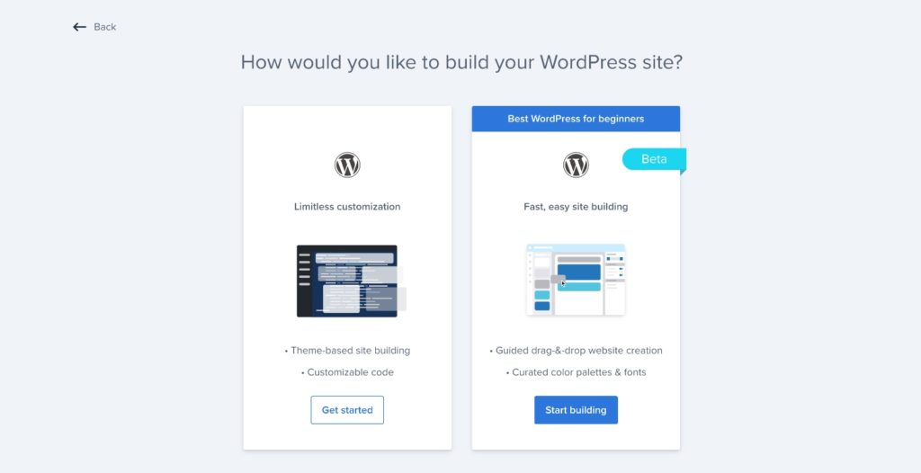 Adding a second website with Bluehost is My Sites area