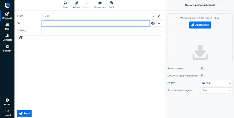 DreamHost email interface
