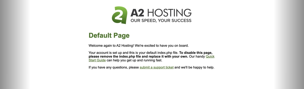 Reason for the failed WordPress installation attempt on A2 Hosting