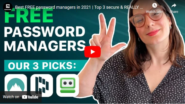Best FREE password managers in 2021 video screenshot