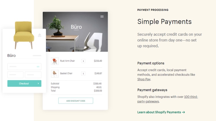 shopify simple payments