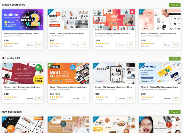 shopify third party themes