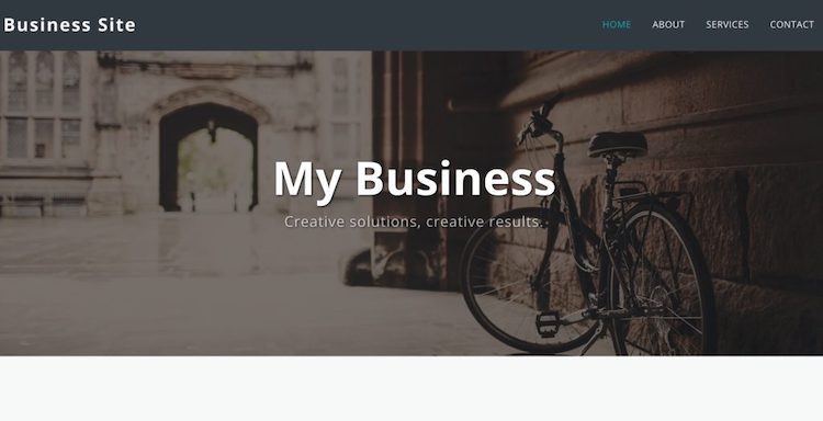 site123 business template