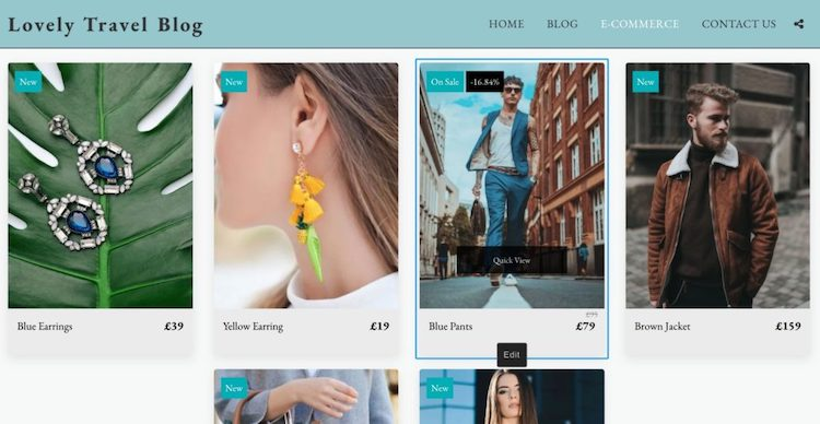 site123 ecommerce storefront