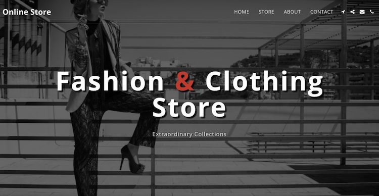 site123 store template