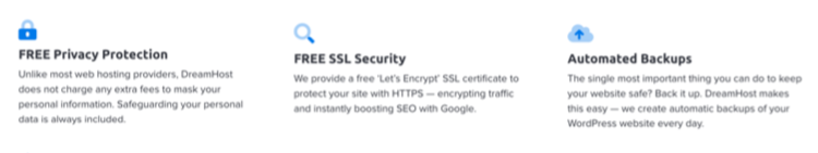DreamHost free security features