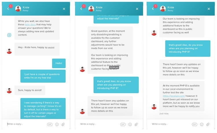 Flywheel live chat with customer support