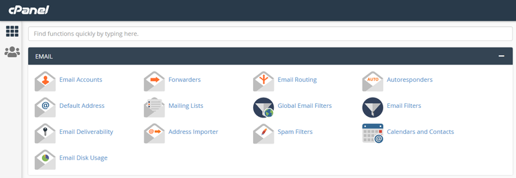 HostPapa email section in the cPanel